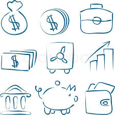 job interview sketch decorative icons set with job search