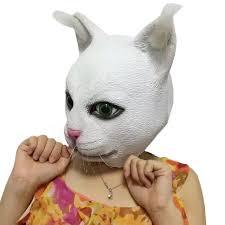 Halloween Rubber Masks New Halloween Party Cosplay Latex Kitten Kitty Fur Animal