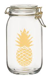 pineapple printed glass kitchen canister u0026 reviews birch lane