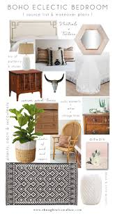 The Bedroom Source by Boho Eclectic Bedroom Source List U0026 Makeover Plans