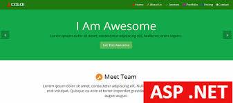 templates for asp net web pages free asp net coloi multipurpose template