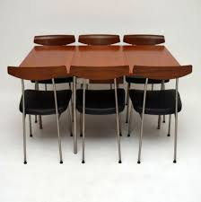retro stag teak dining table u0026 6 chairs by john u0026 sylvia reid