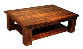 Barn Wood Coffee Table Reclaimed Barnwood Coffee Table With Shelf