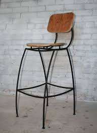 Metal Bar Stools With Wood Seat Furniture Captivating Industrial Stool With Back For Home Bar