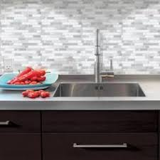 kitchen backsplash stick on tiles shop elida ceramica laser sky glass mosaic subway indoor only