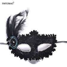 online buy wholesale feather face mask from china feather face