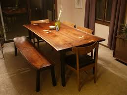Contemporary Dining Set by Custom Modern Walnut Dining Set With Maple Inlay By Tree On A Hill