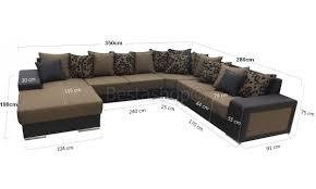 canapé d angle moderne forme u avec nombreux coussin decoratif