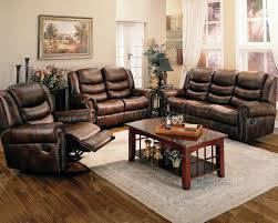 Brown Leather Recliner Sofa Set Living Room Furniture Leather Overstock Furniture Clearance
