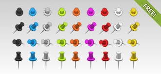 Pushpins 36 Free Push Pins Psd File Free Download