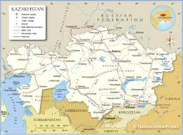 Map Of Southwest Asia And North Africa by Political Map Of Kazakhstan Nations Online Project