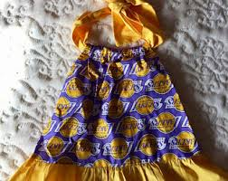 lakers dress etsy