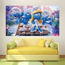 smurfs the lost village wallpapers the lost village block giant wall art poster