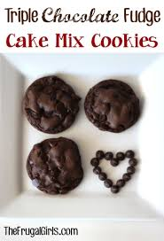 triple chocolate cake mix cookies recipe 4 ingredients the