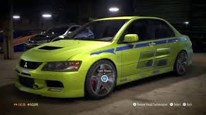 fast and furious evo need for speed 2015 2 fast 2 furious mitsubishi lancer evolution