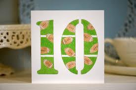 hand drawn 10th birthday card rugby theme