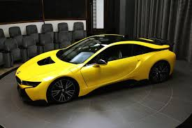 Bmw I8 All Electric - the bmw i8 in lava yellow
