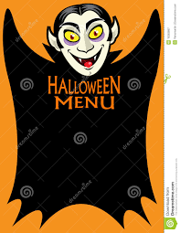 free halloween template halloween menu royalty free stock photography image 18383897