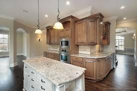brown kitchen cabinets with white island u2013 quicua com