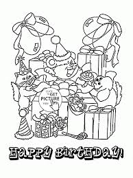 birthday fun card coloring page for kids holiday coloring pages