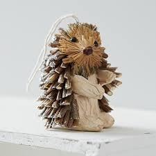 trouva hanging hedgehog decoration