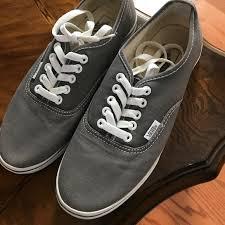 light gray vans womens vans shoes gray womens size 8 light wear poshmark