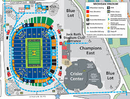 rutgers football parking map 2017 michigan stadium information of michigan