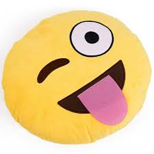 32cm cute creative emoji pillow soft stuffed plush toy doll round