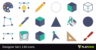 design icons designer set 130 free icons svg eps psd png files