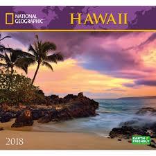 national geographic hawaii wall calendar 2018 zebra publishing