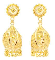 design of gold earrings with design sunflower design gold earring grt jewellers retailer in