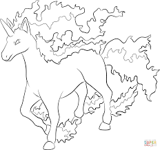rapidash coloring page free printable coloring pages