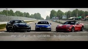 corvette vs audi r8 forza motorsport 4 battle s1 e7 nissan gtr vs audi r8 v10 vs