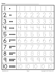free tracing worksheets numbers 1 20