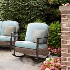 Swivel Patio Chairs Furniture Unfinished Rocking Chair Outdoor Wicker Rocking Chairs