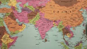India On The World Map by Magnifying Glass Showing India On The Map Stock Video Footage