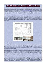 house measurements cost saving cost effective home plans