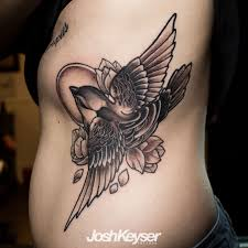 joshkeyser neo traditional bird neo traditional black and grey