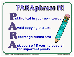 teaching kids to paraphrase step by step minds in bloom