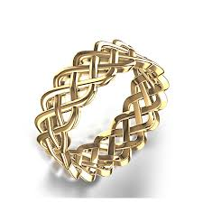 woven wedding ring in 14k yellow gold