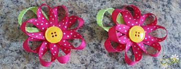 loopy bow loopy flower bow