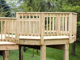 fresh simple wood deck railing designs diy 10068