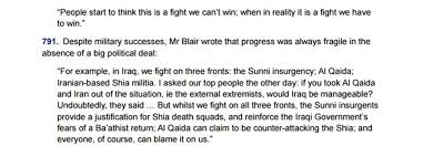chilcot report reveals emails between tony blair and george w bush