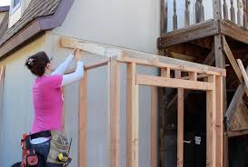 How To Frame A Wall by Building A Lean To Framing And Adding Siding Part 1 Youtube