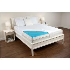 Pillow Topper Bedroom Beige Gel Foam Mattress Topper With Throw Pillows On