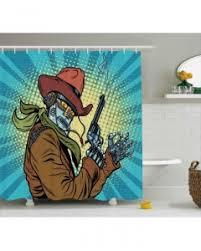 western shower curtain american texas style print for bathroom