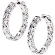 inside out diamond hoop earrings inside out diamond hoop earrings 18k gold 12 65 ct