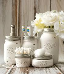 mason jar home decor ideas home and interior mason jar crafts painted distressed bathroom organizer soap dispenser toothbrush holder 2 3 of 3 jpg on mason jar home decor ideas