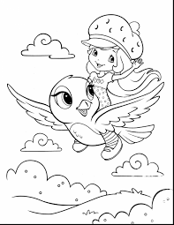 stunning strawberry shortcake coloring page with strawberry