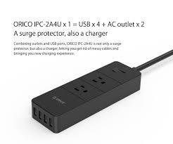 orico surger protector with 2 ac outlet and 4 usb super charger
